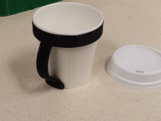 8oz Paper Cup Mug Handle By Turboman7 Thingiverse